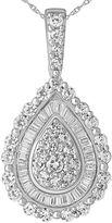 FINE JEWELRY 1 CT. T.W. Diamond 14K White Gold Pear-Shaped Pendant Necklace