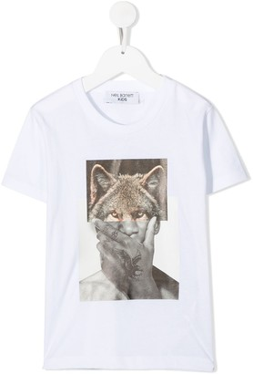 Neil Barrett Kids Wolf-Man print T-shirt