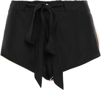 Kiki de Montparnasse Belted Silk Pajama Shorts