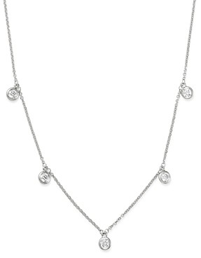 Bloomingdale's Diamond Bezel Set Station Necklace in 14K White Gold, 0.50 ct. t.w. - 100% Exclusive