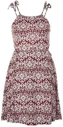 Topshop Tie Strap Cutout Dress