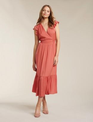 Forever New Estelle Tiered Midi Dress - Summer Melon - 16