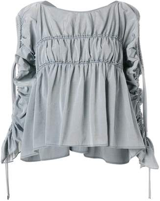 Carven drawstring-sleeve gathered blouse