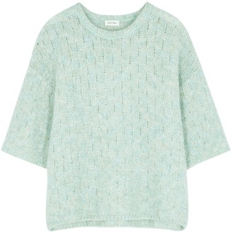 American Vintage Dolsea mint fine-knit jumper