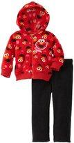 Sesame Street Baby-girls Infant 2 Piece Elmo Printed Polar Fleece Set