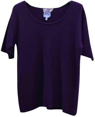 Fendi Purple Wool Tops