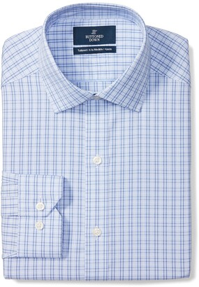 Buttoned Down Tailored Fit Button-collar Pattern Non-iron Dress Shirt Camicia