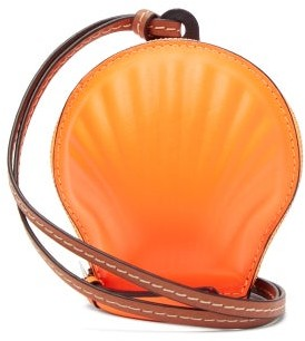 Loewe Paula's Ibiza - Seashell Leather Coin Purse - Orange Multi