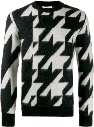 Alexander McQueen Houndstooth Knitted Sweater