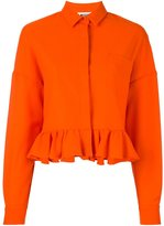 MSGM classic collar ruffled jacket