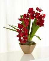 John-Richard Collection Caribbean Red Faux-Floral Arrangement