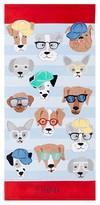 Pottery Barn Kids Allover Dogs Kid Beach Towel, Blue Multi