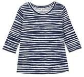 Splendid Printed Stripe Loose Knit Top (Big Girls)