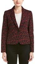 Anne Klein Women's Animal Jacquard Jacket