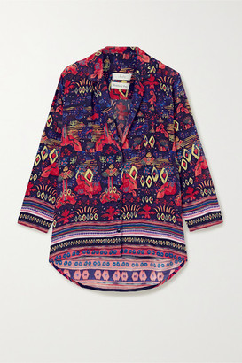 CHUFY Nazca Printed Twill Shirt - Purple