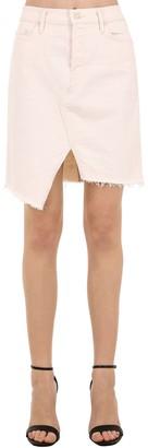 Mother The Tomcat Slide Cotton Denim Mini Skirt