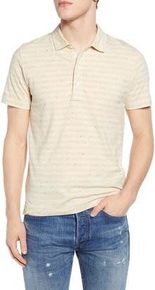 Billy Reid Regular Fit Stripe Donegal Short Sleeve Polo