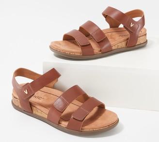 Vionic Leather Adjustable Straps Sandal - Colleen