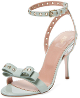 RED Valentino Grommet Patent Leather Two-Piece Sandal