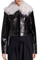 Proenza Schouler Faux Fur & Faux Leather Jacket