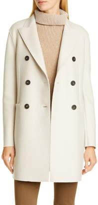 Harris Wharf London Short Double Breasted Wool Coat