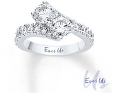 Zales Ever UsTM 3 CT. T.W. Two-Stone Diamond Bypass Ring in 14K White Gold