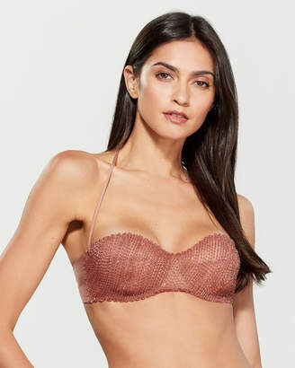 La Perla Rust Beaded Bikini Top
