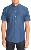 Zachary Prell Men's 'Nathan' Trim Fit Short Sleeve Sport Shirt