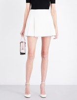 Valentino Pleated wool and cashmere-blend mini skirt