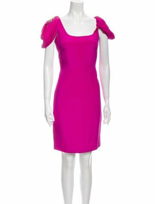 Marchesa Notte Silk Mini Dress Pink