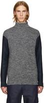Junya Watanabe Navy Wool Turtleneck
