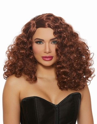 Dreamgirl Women's Full Curly Auburn Wig