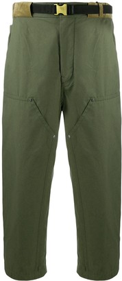 Sacai Belted Wide-Leg Trousers