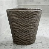 Crate & Barrel Sedona Grey Tapered Waste Basket/Trash Can