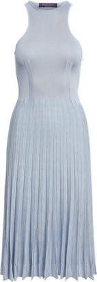 Ralph Lauren Pleated Pointelle Jumper Day Dress