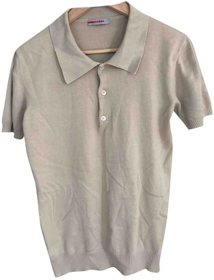 Prada Beige Cotton Polo shirts