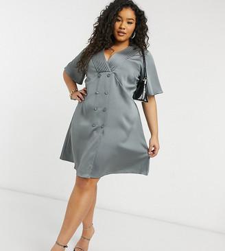 ELVI Plus blazer dress in gray