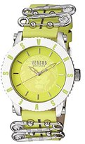 Versus By Versace Women's Madison Quartz Stainless Steel and Leather Casual Watch, Color:Green (Model: S22020016)