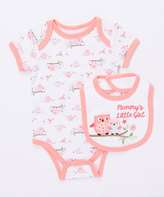Buster Brown Conch Shell 'Mommy's Little Girl' Two-Piece Bodysuit & Bib