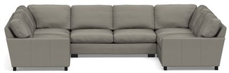 Pottery Barn Turner Square Arm Leather U-Shaped Sectional
