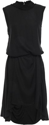 Ann Demeulemeester Asymmetric Gathered Crepe Dress