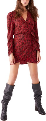 Free People Kinsley Floral Long Sleeve Wrap Minidress