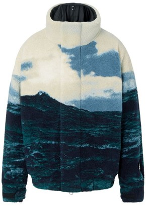 Burberry Printed Fleece Jacket With Warmer