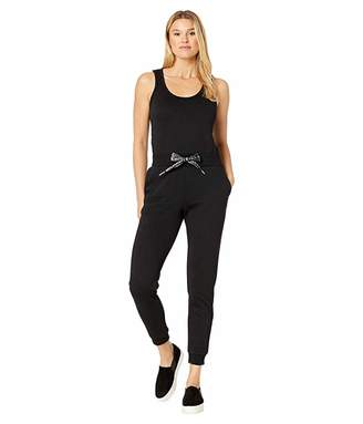 MICHAEL Michael Kors Logo Cord Sleeveless Jumpsuit (Black) Women's Jumpsuit & Rompers One Piece