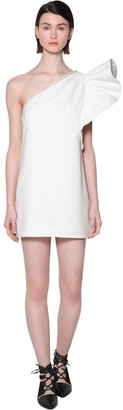 Self-Portrait Embellished Volant Crepe Mini Dress