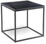Joe Ruggiero Collection Chaplin Wood End Table Table Base Color: Glazed Hudson, Table Top Color: Alpine
