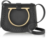 Salvatore Ferragamo Sabine Black Leather Small Crossbody Bag