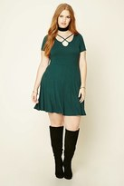 Forever 21 FOREVER 21+ Plus Size Cutout Skater Dress