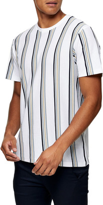 Topman Luke Stripe Pique T-Shirt