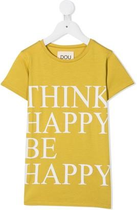 Douuod Kids slogan short-sleeved T-shirt